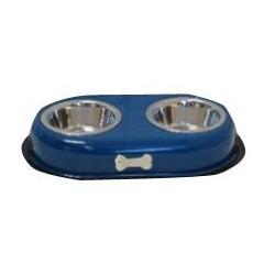 VM GABO DOG/CAT ANTI-SKID DOUBLE BOWL (BONE MASCOT) 473ML-16 BOWLS Food And Water Bowls