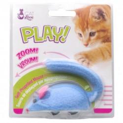 Souris à roulettes Cat Love Play,bleue