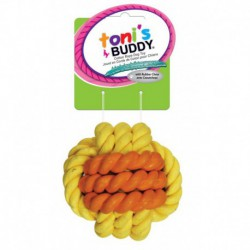 TB Monkey Fist Ball w/ Rubber Chew 3.75 in