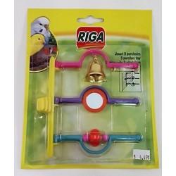 RIGA BIRD TOY 3 PERCHES