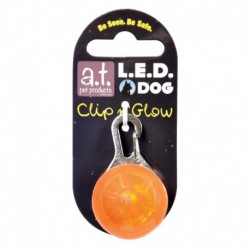 AT Led Dog Tag Orange