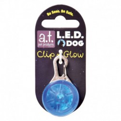 AT Led Dog Tag Blue