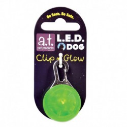 AT Led Dog Tag Green