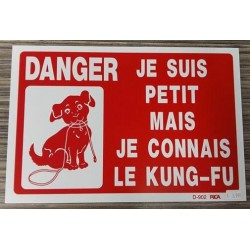WARNING SIGN Je suis petit..je connais le kungfu