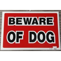 WARNING SIGN Beware of dog