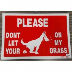 -PANCARTE --Please dont let your dog…---