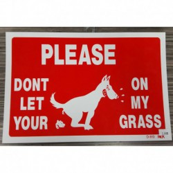 """WARNING SIGN """"Please don't let your dog…""""       """