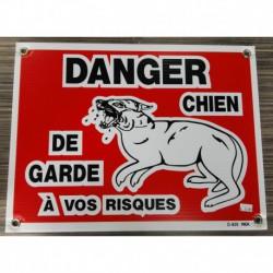 PANCARTE LARGE Danger chien garde (à vos risques) RIGA Miscellaneous Accessories