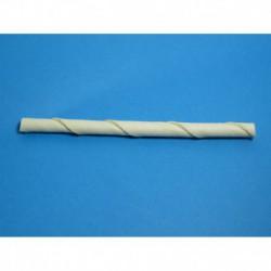 Cuir-Batonnets twist blanc 5   x 6/8mm