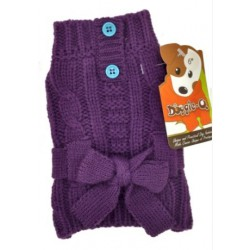 DQ Purple Belted Sweater - 8in