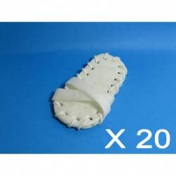 Cuir-Chaussettes blanches 5 (20 unités)