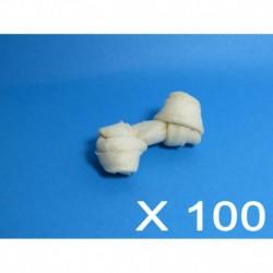 Cuir-Mini os blanc noués 2 à 2 1/2 (100 unités)