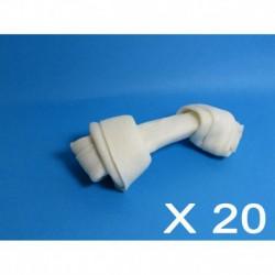 Cuir-Os blanc noués 4 à 4 1/2 (20 unités)