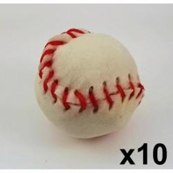 Cuir-Baseball blanc 3  1/4   (Lacets couleur) (10 unités)