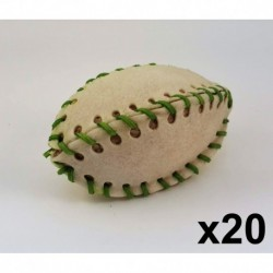 Cuir-Football lacé 5   (Lacets couleur) (10 unités)