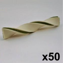 Duo twist blanc/menthe 5 (50 un)