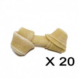 Cuir-Os brun noués 4 à 4 1/2 (20 unités)