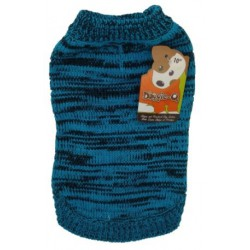 DQ Marled Blue Sweater - 14in