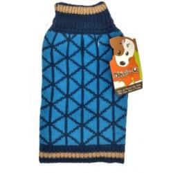 DQ Blue Geo Sweater - 18in