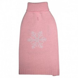DQ Embroidered Snowflake - Peach Pink 20in