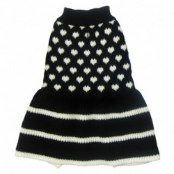 DQ Knitted Dress - Sweethearts - Black 20in