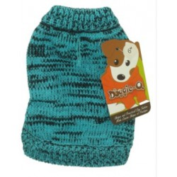 DQ Marled Teal Sweater - 12in