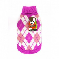 DQ Pink Argyle Sweater - 16in