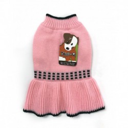 DQ Pink Squares Sweater - 14in