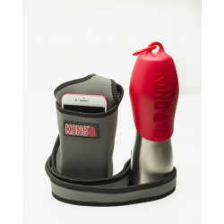 KONG H2O Bottle and CADDY Combo Red 25oz. KONG Food And Water Bowls