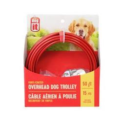 Câble Aérien-Poulie P T Chien,Rouge15M-V