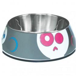 Bol2 en 1 Dogit Style, motif Electric Skulls, petit350ml (1