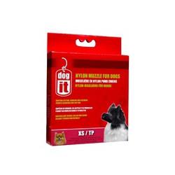DO Nylon Dog Muzzle, Black, XS,10cm-V