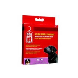 DO Nylon Dog Muzzle, Black, XL,21.5cm-V