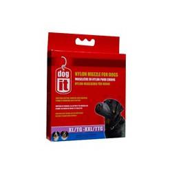 DO Nylon Dog Muzzle,Black,XL/XXL,24cm-V
