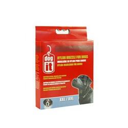 DO Nylon Dog Muzzle, Black, XXL,30cm-V