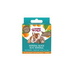Bloc minéral  LW pour petits animaux, arôme d'orange, 40g (