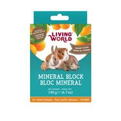 Bloc minéral  LW pour petits animaux, arôme d'orange, 190g