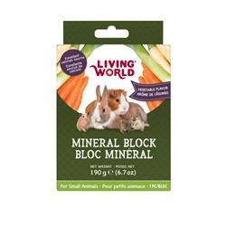 Bloc minéral LW pour petits animaux, arôme de légumes, 190