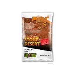 Substrat Désert de pierres E.T, arrière-pays, rouge, 20 kg (