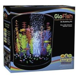 GloFish Half Moon with Blue LED Bubbler 3 Gal