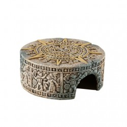 Cachette aztèque EX T en forme de Pierre du Soleil, moyenne