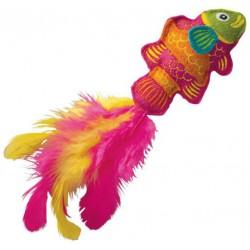 Kong Cat Tropics Fish Toy Blue