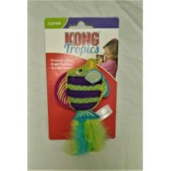 Kong Cat Tropics Fish Toy Green