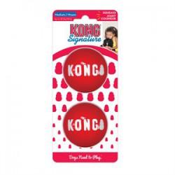 KONG Balles « Signature » Moyennes Paquet de 2