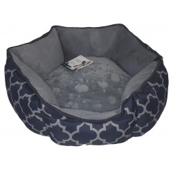Lit hexagone Pet space Gris bleu