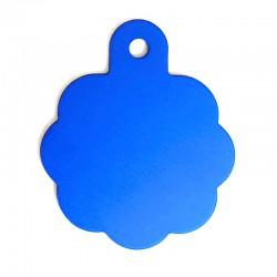 Médaille rosette large bleu