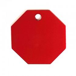 Médaille stop large rouge