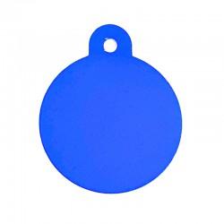 Médaille cercle large blue