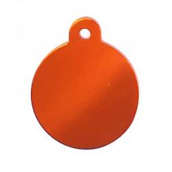 Médaille cercle large orange