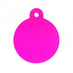 Pink large circle tag